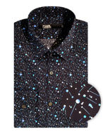 Picture of Karl Lagerfeld Navy Universe Print Shirt