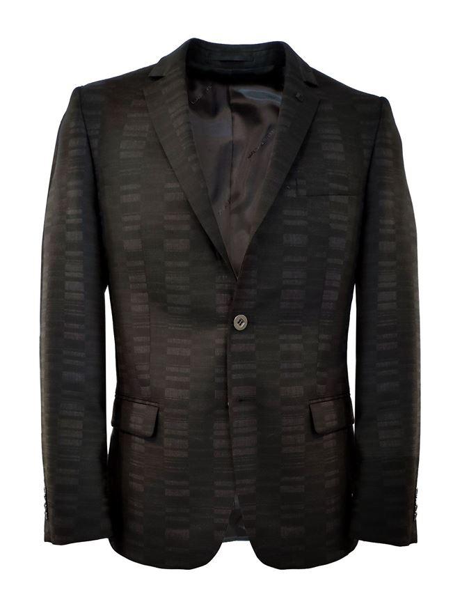 Picture of Karl Lagerfeld Black Block Weave Suit