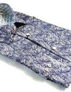Picture of Ted Baker Pruple Leaves Print Shirt