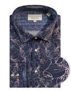 Picture of Ted Baker Pruple Floral Print Shirt
