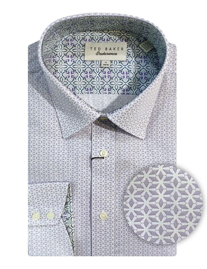 Picture of Ted Baker Lilac Tile Print Shirt