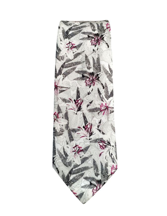 Picture of Ted Baker White Floral Silk Tie