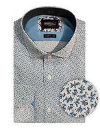 Picture of Brooksfield Teal Abstract Luxe Shirt