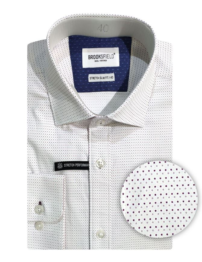 Picture of Brooksfield Dot Stretch Slim Shirt