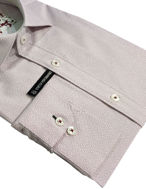 Picture of Brooksfield Plum Geo Stretch Shirt