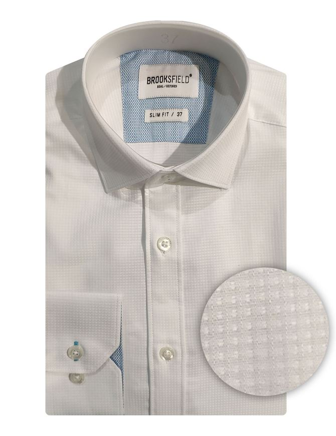 Picture of Brooksfield Grid Texture Shirt