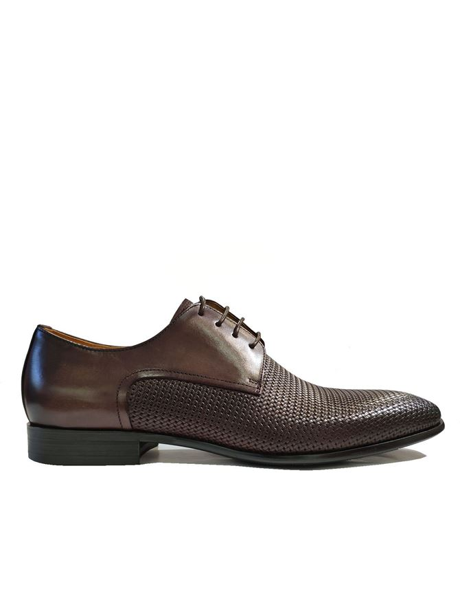 Picture of Cutler Brown Plait Laceup Shoes