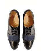 Picture of Cutler Navy Plait Laceup Shoes