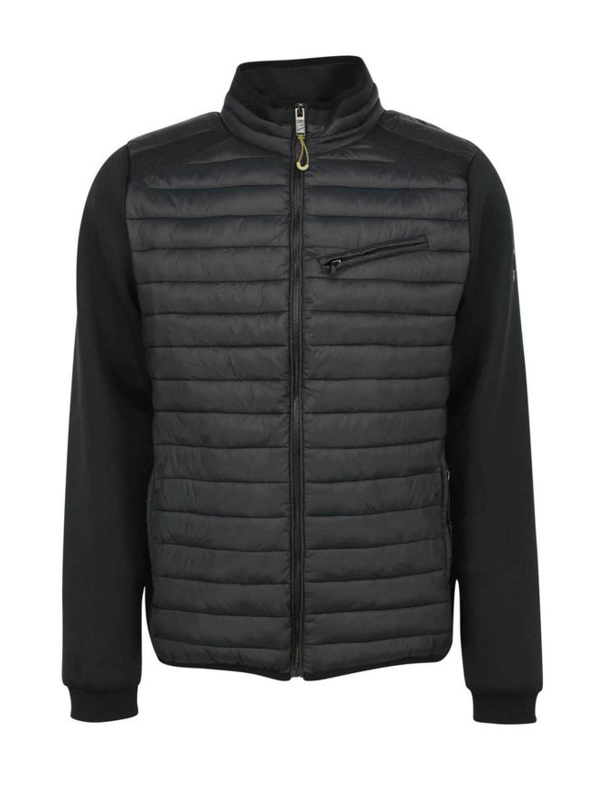 Picture of No Excess Black Quilted Sweat Jacket