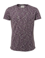 Picture of No Excess Abstract Stripe Tshirt in Plum
