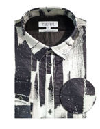 Picture of Pearly King Brush Print White Shirt
