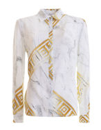 Picture of Versace Greek Marble L/S Shirt