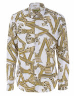 Picture of Versace Jeans Gold Columns White Shirt