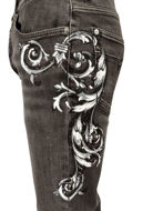 Picture of Versace Baroque Handpainted Stretch Jean
