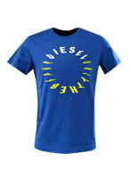 Picture of Diesel Blue T-Diego Printed T-shirt