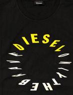 Picture of Diesel Black T-Diego Printed T-shirt