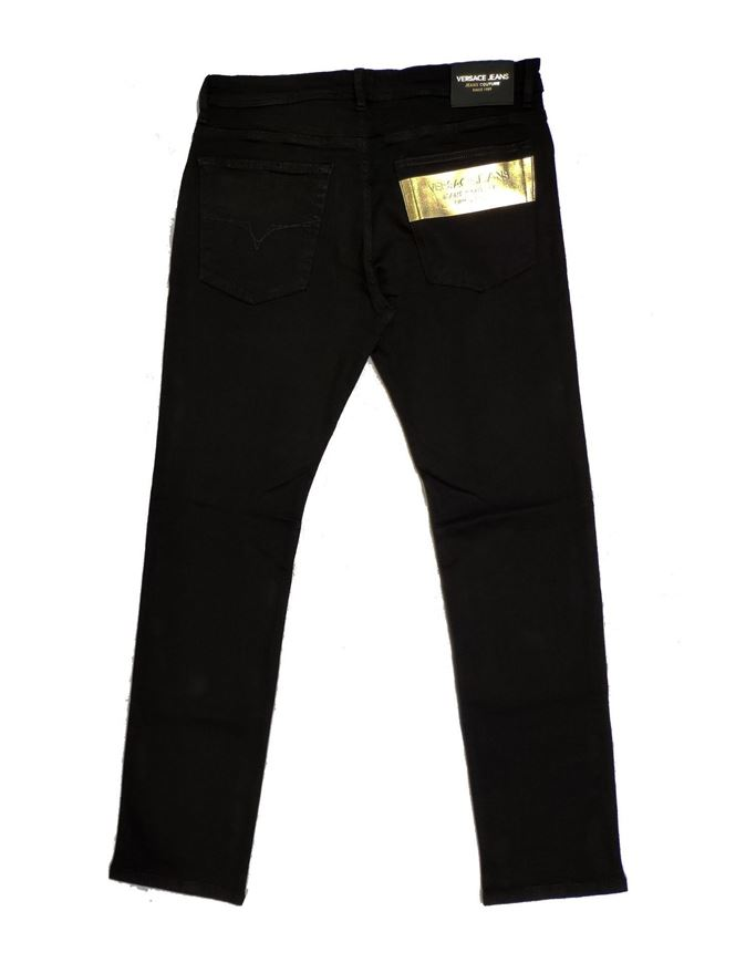 Picture of Versace Jeans Gold Emboss Black Denims