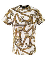 Picture of Versace Jeans Columns White Tee