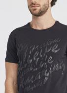 Picture of Gaudi Black Graphic Emboss Tee
