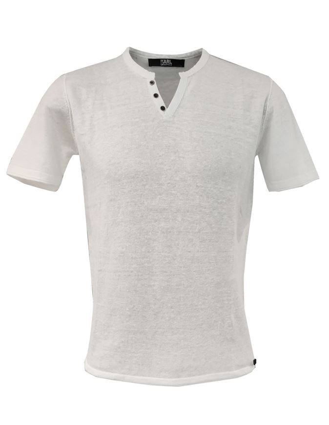 Picture of Karl Lagerfeld Pure Linen White Tshirt