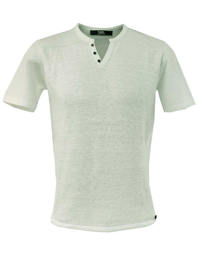 Picture of Karl Lagerfeld Pure Linen Mint Tshirt