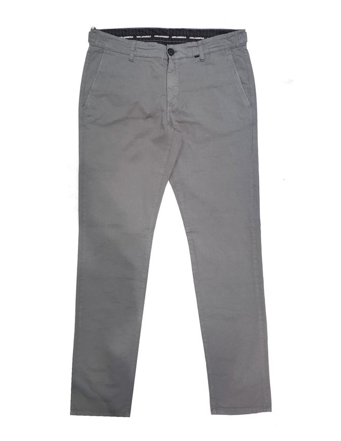 Picture of Karl Lagerfeld Grey Micro Print Pant