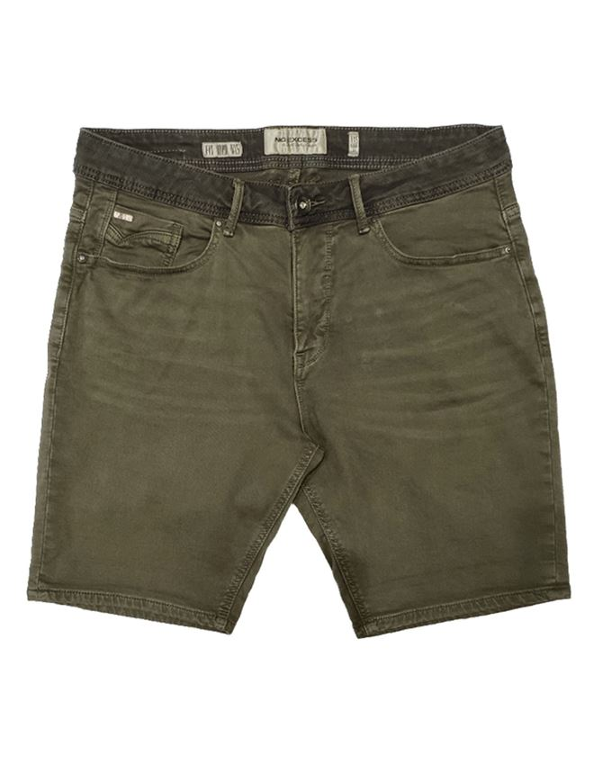Picture of No Excess Olive Dye Wash Stretch Short