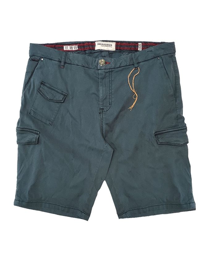 Picture of No Excess Green Stretch Cargo Short