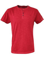 Picture of No Excess Red Dye Wash Button Tee