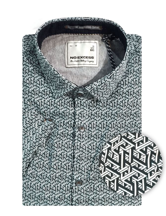 Picture of No Excess Geo Print S/S Shirt