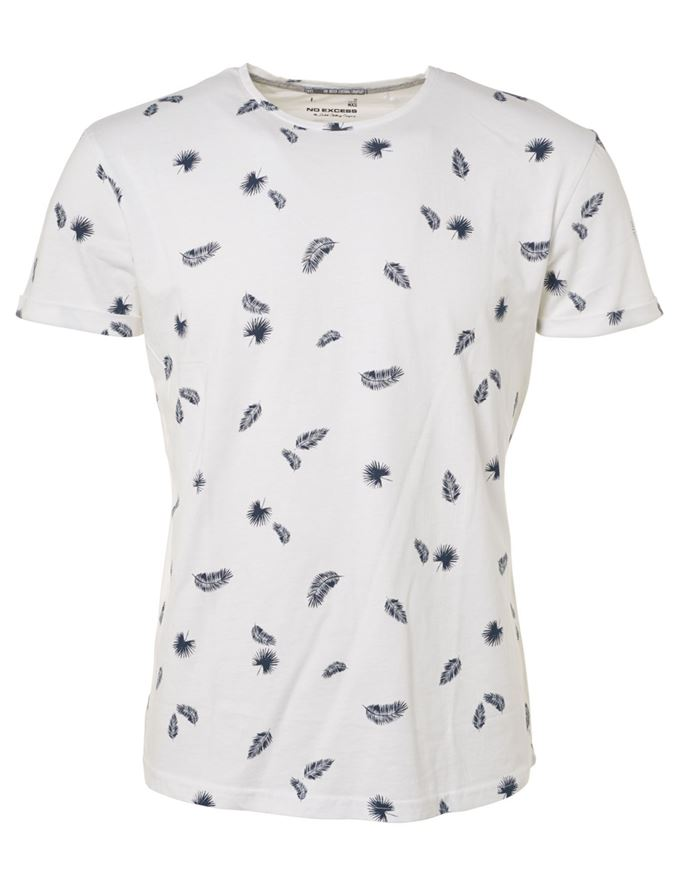 Picture of No Excess Palm Leaf Print Tee