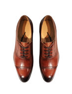 Picture of Cutler Brown Laceup Gusset Shoes