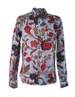 Picture of Pearly King Navy Candid Floral Shirt