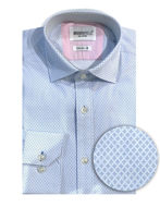 Picture of Brooksfield Blue Diamond Stretch Shirt