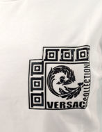Picture of Versace Logo Badge White T-shirt