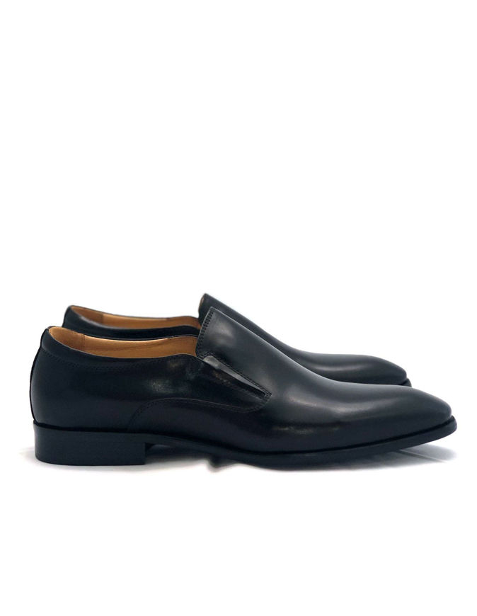 Picture of Cutler Black Loafer Gusset Shoes