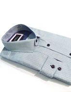Picture of Brooksfield Aqua Cross Check Luxe Shirt