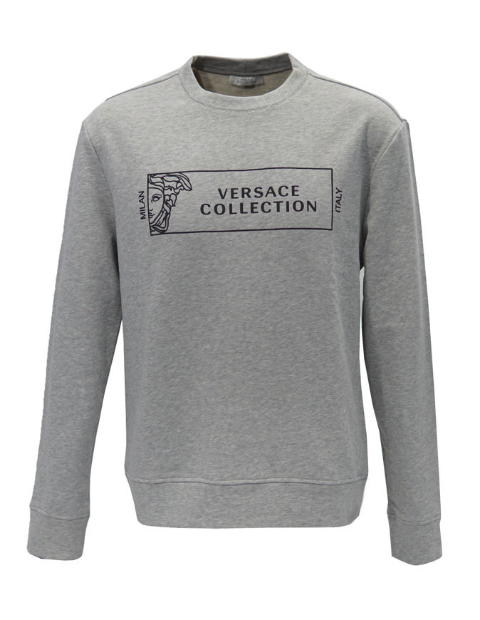 Picture of Versace Logo Active Grey Sweatshirt