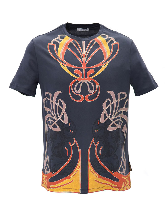 Picture of Versace Fantasy Print Navy T-shirt