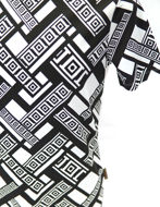 Picture of Versace Greek Key Tape Print White T-shirt