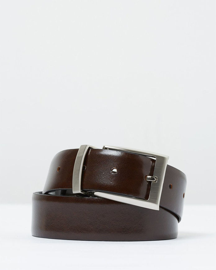 Picture of Loop Reversible Black & Brown 35mm Leather Belt