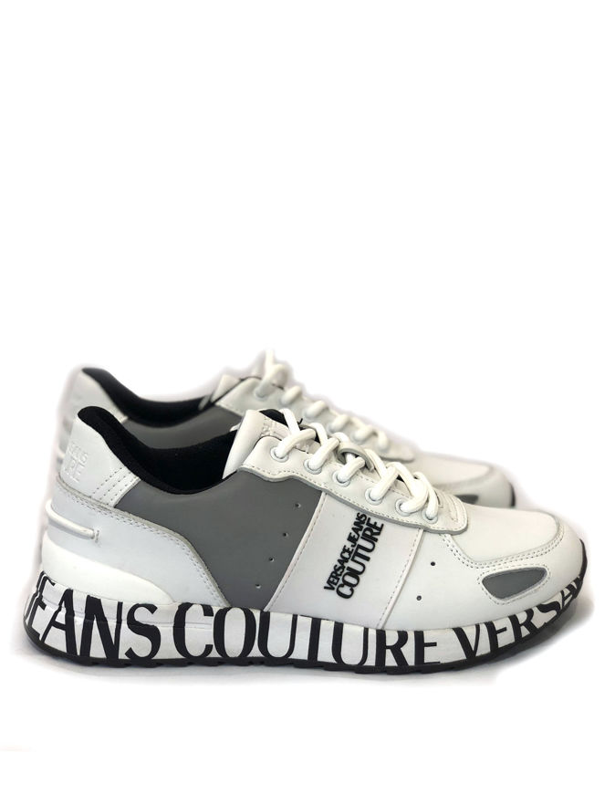Picture of Versace Jeans Couture Wave Leather White Sneaker