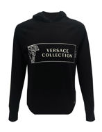 Picture of Versace Collection Logo Silk Mixed Hood Knit