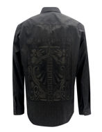 Picture of Versace Camouflage Black L/S Shirt
