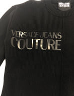 Picture of Versace Jeans Couture Logo Mixed Yarn Jumper