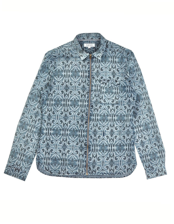 Picture of Pearly King Arch Print Denim Shirt