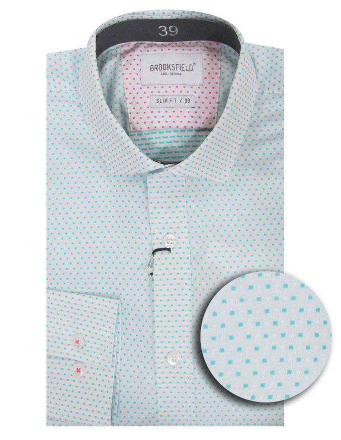 Picture of Brooksfield Aqua Dobby Slim Shirt