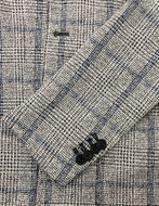 Picture of Karl Lagerfeld Grey Check Stretch Blazer