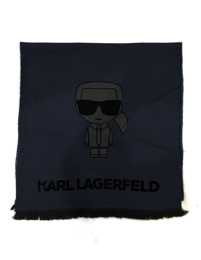 Picture of Karl Lagerfeld Embossed Ikonic Wool Scarf