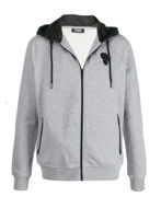 Picture of Karl Lagerfeld Detailed Glossy Hood Sweat Jacket